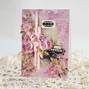 Kartka dla przyjaciela - ,kartka,przyjaciel,bezokazji,okolicznościowa,scrapbooking,