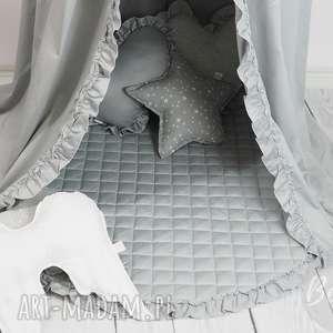 betulli mata pikowana z falbanką szara dywanik, mata, falbanką