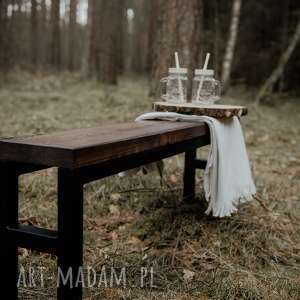 Industrialna ławka wykonana ze starego drewna, industrial, stare-drewno, stal, drewno