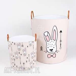 pokoik dziecka komplet dwóch pojemników w króliki, pojemnik, przechowywanie