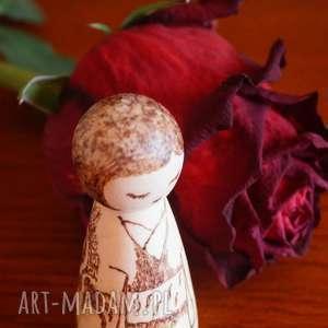 ręcznie zrobione lalki smocza dziewuszka - ręcznie wypalana laleczka