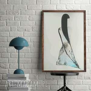 obraz ręcznie malowany abstrakcja kobieta, plakat 50x70 , abstrakcja-niebieski