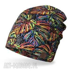 hand-made czapki czapka cienka lekka do biegania bawełniana, kolorowa smerfetka