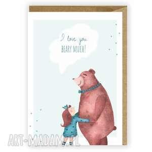 kartka okolicznościowa, i love you beary much, kartka, okolicznościowa