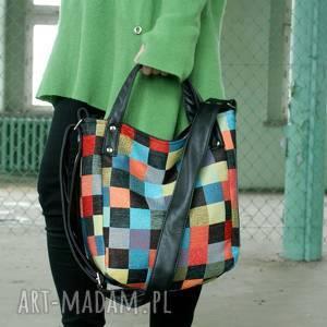 MinIKS vegan mozaika, torba, torebka, lato, kolor, minimal