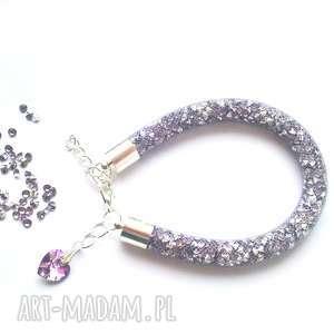 bransoletki iskrząca bransoletka stardust we fiolecie i szarości, stardust