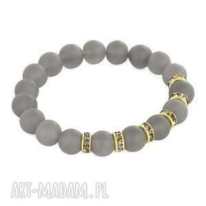 zircons & stones - mat grey agate
