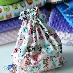 handmade zabawki woreczek / plecaczek pieski