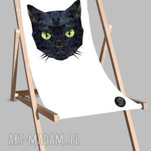 Leżak z kotem, dom, leżak, kot, plaża, relaks, leżakplażowy