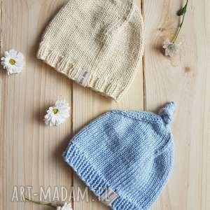 czapka, niemowlę, z włóczki bawełnianej, czapka