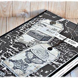 ręcznie zrobione scrapbooking notesy świat u twych stóp! Kalendarz 2017