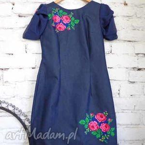 sukienka z jeansu Folk Design, folk