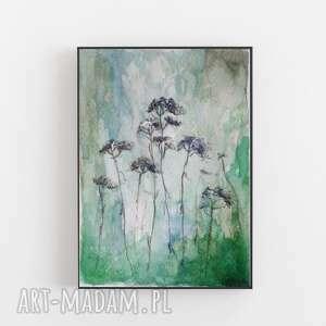 Kwiaty na łące-akwarela formatu 12,5 18 cm paulina lebida kwiaty