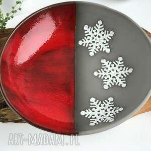 świąteczna misa ceramiczna, ceramika, misa, miska, patera, prezent, święta