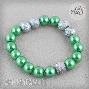 Zielone perełki - Ręcznie robione