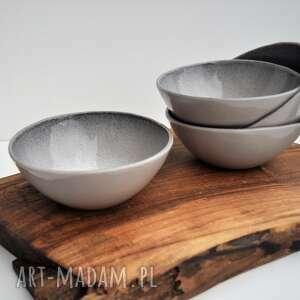 4 miseczki ceramiczne - szaraczki, ceramika, miska, miseczka, kuchnia, miseczka