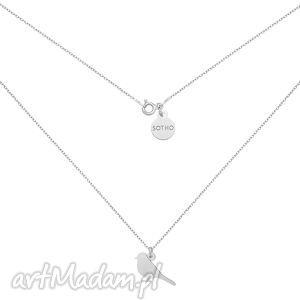 srebrny naszyjnik ze słowikiem - srebrne naszyjniki, łańcuszek