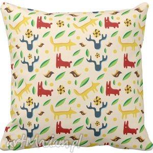 poszewka na poduszkę dziecięca dla dzieci leśne zwierzaki 3023 - poduszka