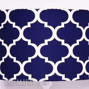 lampy abażur fresh navy blue 40x40x25cm od majunto, koniczyna-marokańska, koniczyna