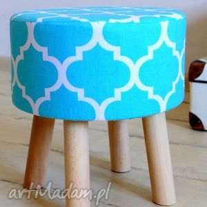 Stołek Fjerne S ( turkus koniczyna) , taboret, stołek, puf, krzesło, dekoracja