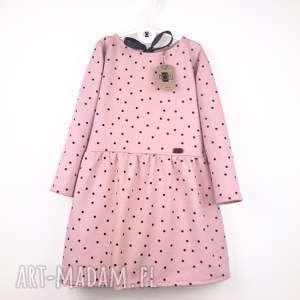 Sukienka w kropeczki z kokardą, sukienka, kropki
