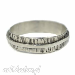 obrączka srebrna, srebro, 925 oksydowane, oryginalna