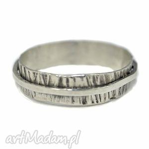 obrączka srebrna - obrączka, srebro, 925, oksydowane, oryginalna