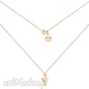 naszyjniki naszyjnik z różowego złota butem sportowym dla biegaczki, modny
