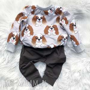 bluza i spodnie pieseł, dla noworodka, dresik