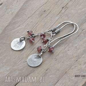 małe szlachetne - różowy turmalin, srebro, wiszące
