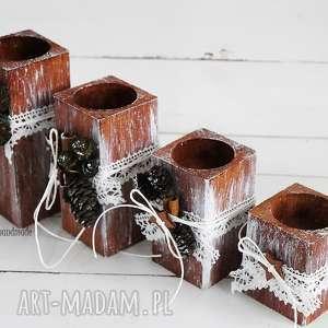 zestaw świeczników 267 vairatka handmade, komplet