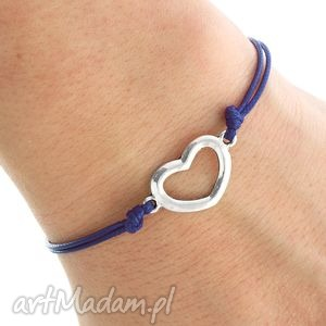 simply charm - navy blue twine with heart lavoga - sznurek