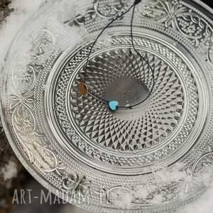 w hand works bransoletka sznurkowa z niebieskim sercem, sznurkowa, sznureczkowa