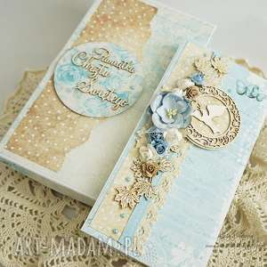 scrapbooking kartki kartka z okazji chrztu - w pudełku, chrzest, kartka-na-chrzest