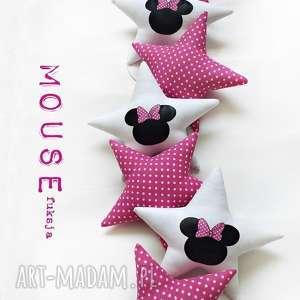 mouse fuksja - girlanda, mouse, gwiazdki, miki, myszka, fuksja