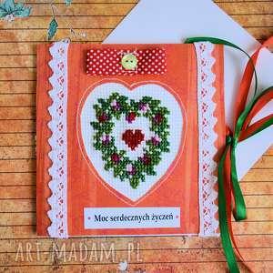 kartki kartka - moc serdecznych życzeń 2, kartka, haft, krzyżykowy