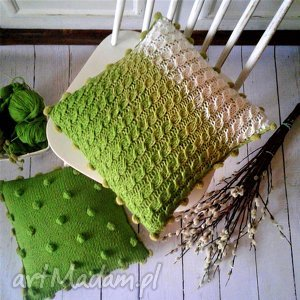 Prezent dziergana poszewka, poduszka, dom, dekoracje, wełna, prezent