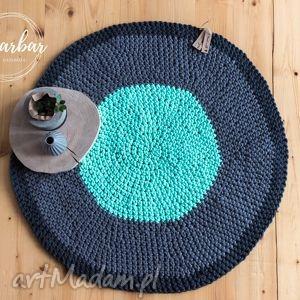 dywany dywan ze sznurka bawełnianego 80 cm, szaro-miętowy, dywan, chodnik, sznurek