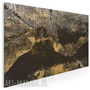 obraz na płótnie - pocałunek drzewa 120x80 cm 35201, drzewa, pocałunek, las
