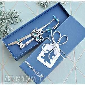 zakładki sowa klucznik - elegancka zakładka, sowa, klucz, prezent