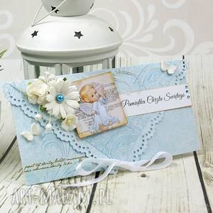 kartki pamiątka chrztu św - baby blue, chrzest, święty, chłopiec
