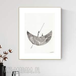 grafika 30x40 cm wykonana ręcznie, abstrakcja, obraz do salonu, 2898180