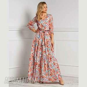 sukienka lesli maxi cecilia, maxi, romantyczna, wiosna, kwiaty