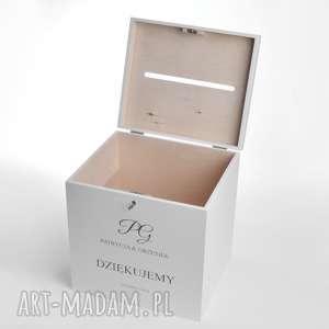 Duże ślubne pudełko na koperty personalizowane księgi gości