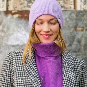 handmade czapki czapa dwustronna logo kolorowe lavendowe love