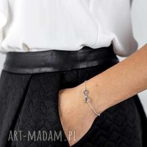 srebrna bransoletka z nieskończonością i sercem together forever /na zawsze