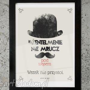 dżentelmen plakat 30x40, plakaty, unikalny prezent