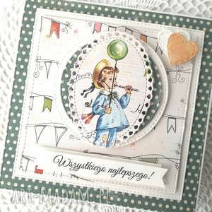 kartka, kartka urodzinowa, chlopiec, uroczystość, dziecko, życzenia