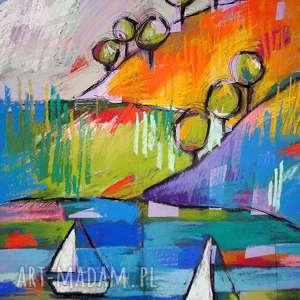 obrazy weź oddech - rysunek pastelami suchymi