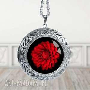 otwierany medalion z kwiatem- ekskluzywny i stylowy - kwiaty, elegancki, sekretnik